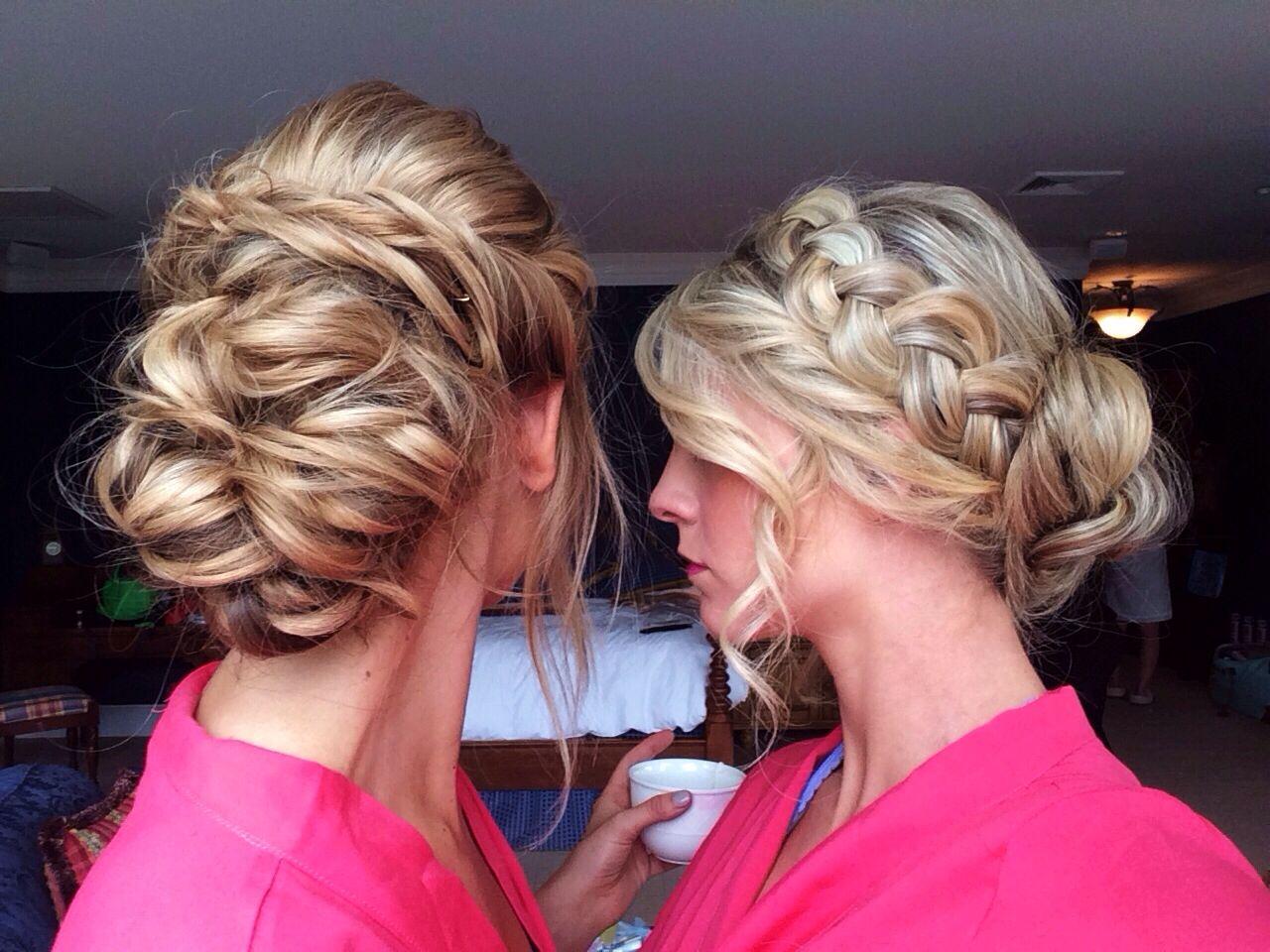 maid & matron of honor hair by heather chapman. wedding hair