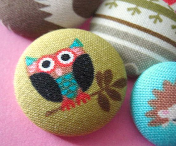 animal buttons, sewing buttons, mixed buttons, fabric button