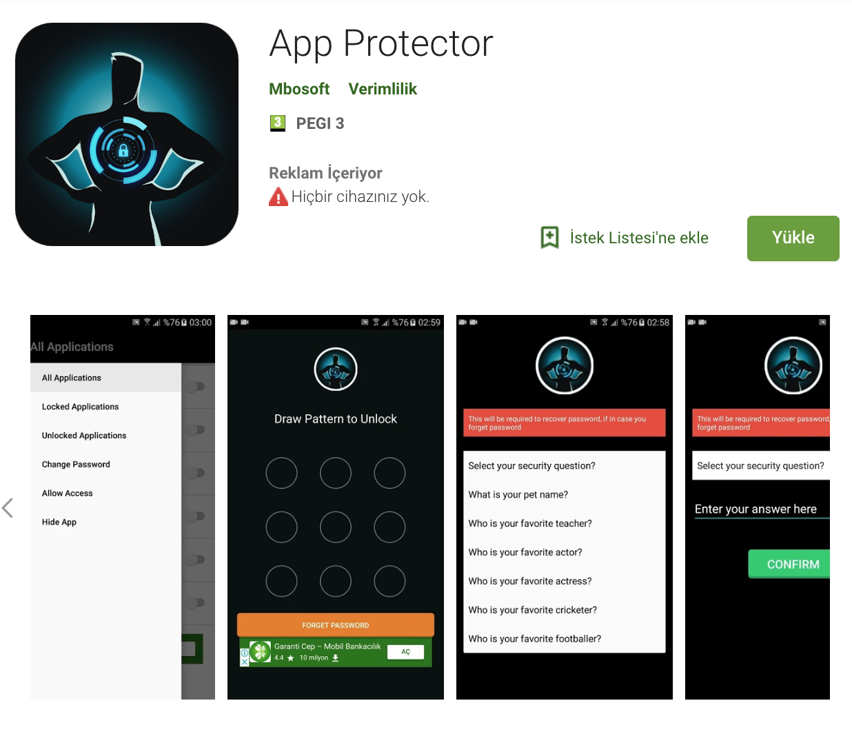 App Locker is a light app protector tool to protect your