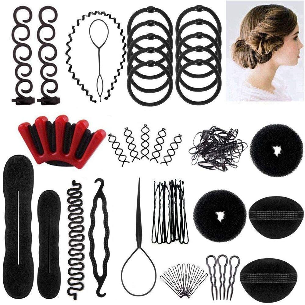 The Best Hair Styling Set Styling Tools Hair Accessories Hair Modelling Tool Kit Hairdresser In 2020 Hair Braiding Tool Braid Accessories Braid Tool