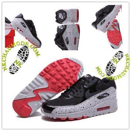 chaussures de sport b8993 ce9f0 Montante | Nike Chaussure Sport Air Max 90 Femme Noir Place ...