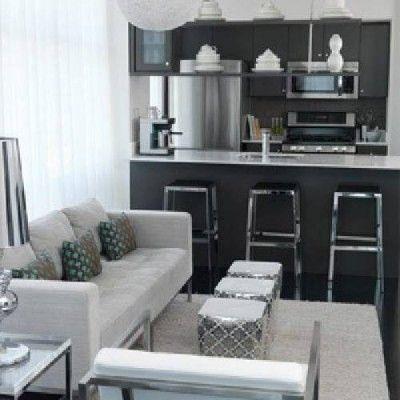 Salas peque as modernas y muy practicas proyectos que - Fotos de cocinas pequenas y modernas ...