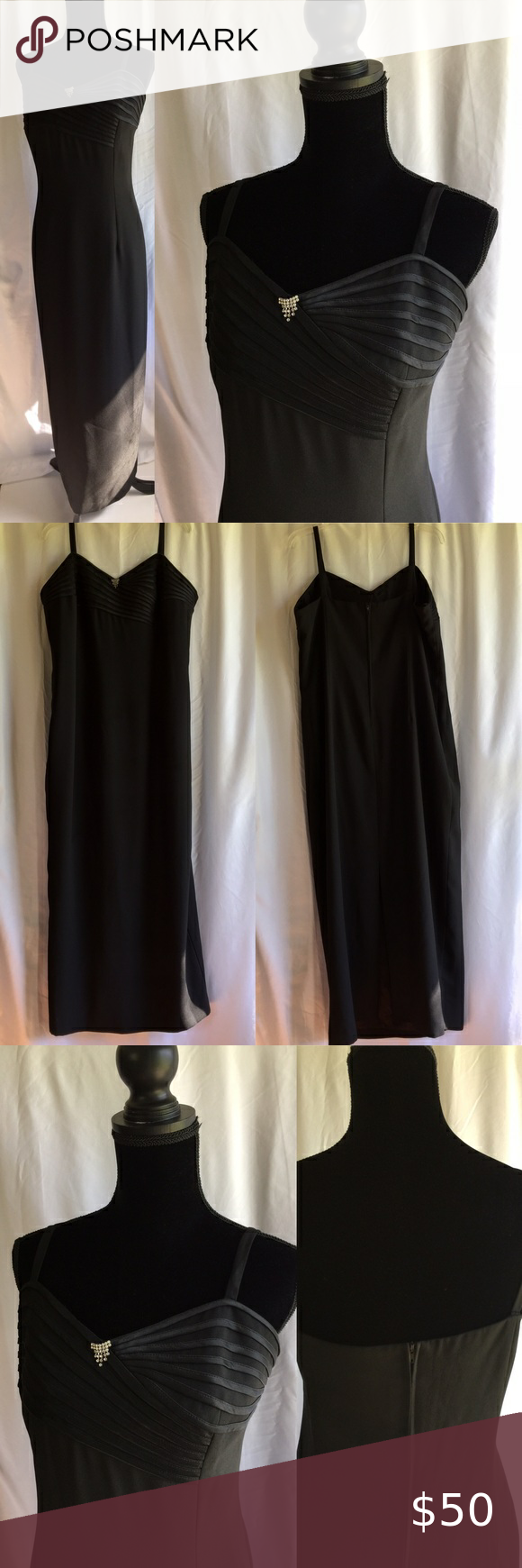 Black Long Formal Dress Bridesmaids Preloved Sz 18 Formal Wear Dresses Formal Dresses Long Formal Dresses [ 1740 x 580 Pixel ]