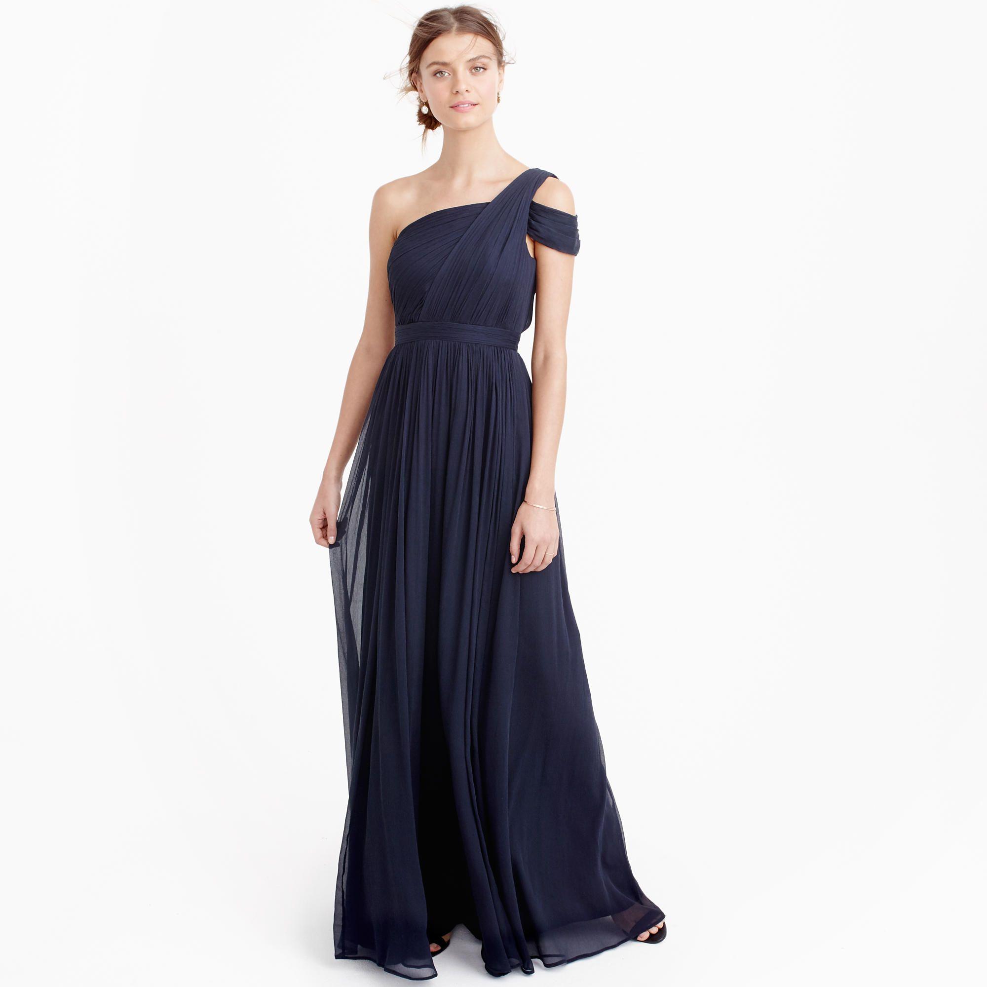 Cara long dress in silk chiffon silk chiffon jew moh perfect for a ball or a weddingcrew cara long dress in silk chiffon ombrellifo Choice Image