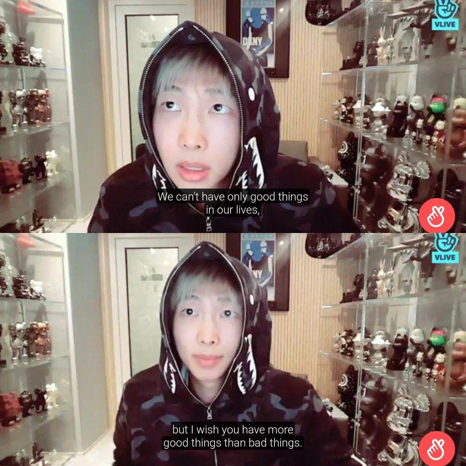 Namjoon is such a beautiful human! #RM #Bts | Bts in 2019 | Bts, Bts