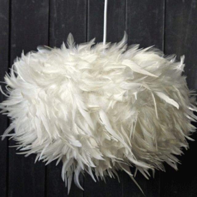 Feather Light Shade With Images Feather Lamp Ceiling Lights