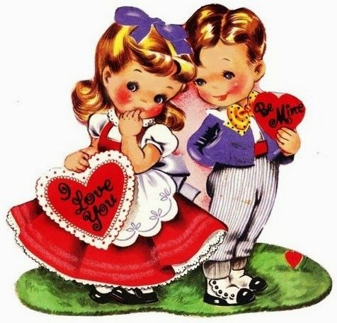 Valentine card. 1950s.