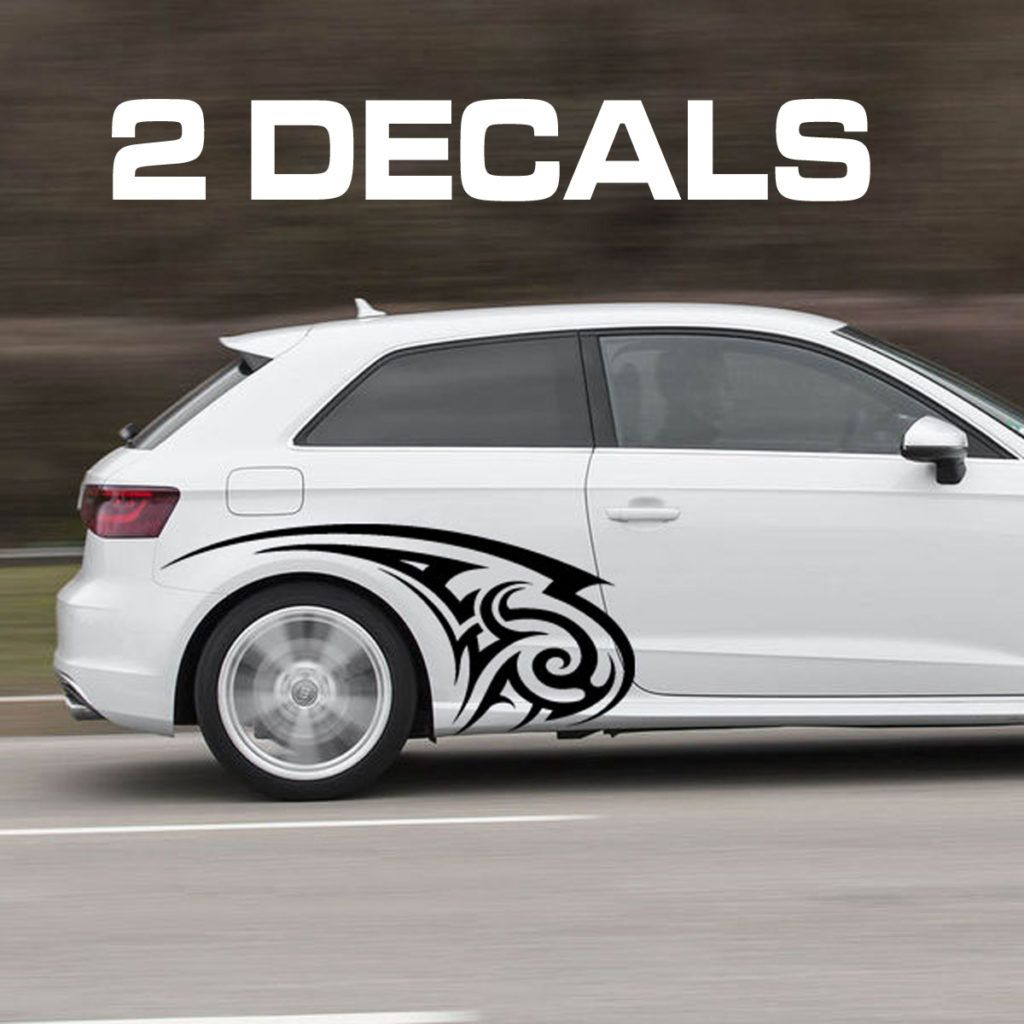Tribal design car door decal sticker