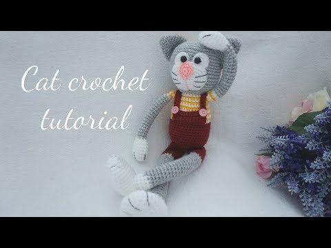 León Amigurumi Tutorial : Amigurumi cat crochet pattern easy video tutorial cat crochet