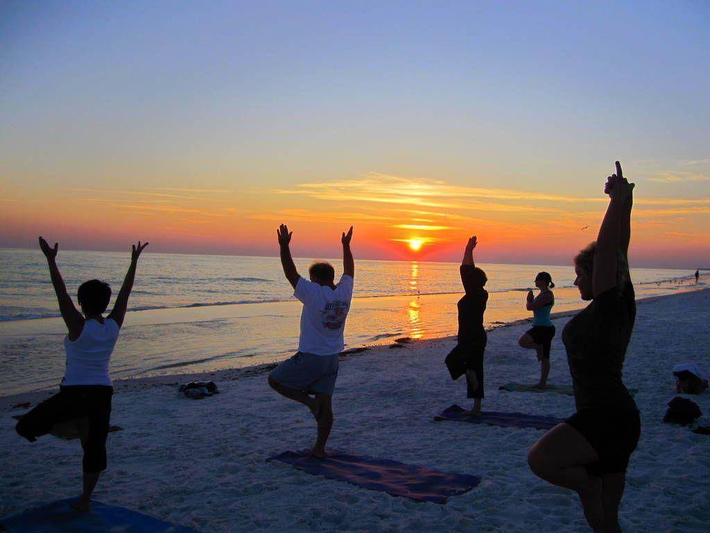 Destin Sunset Beach Yoga