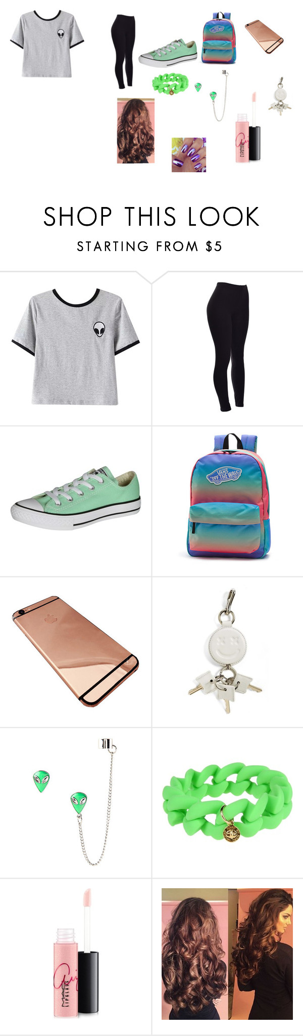 """""""Street Look 2"""" by ivieoww ❤ liked on Polyvore featuring Chicnova Fashion, Converse, Vans, Alexander Wang, Marc by Marc Jacobs and MAC Cosmetics"""