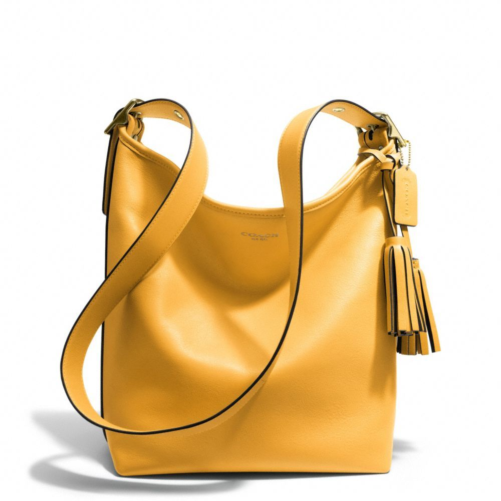 The Legacy Duffle In Leather From Coach Love This Mustard