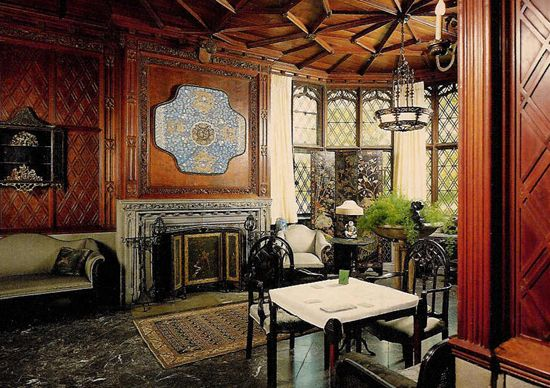 Chinese Room At Stan Hywett Hall In Akron, Ohio Built By Frank Seiberling.