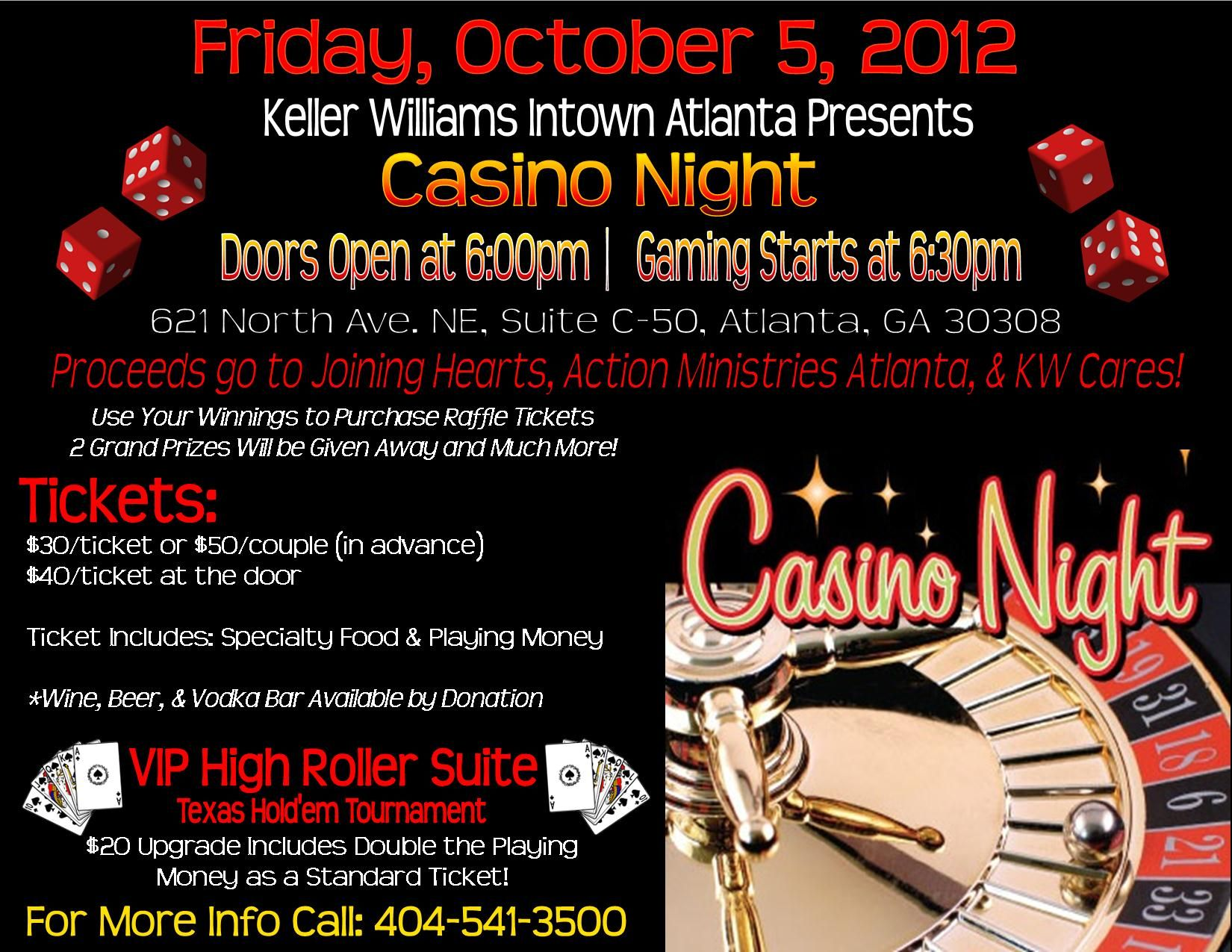 Sample casino flyers casino center pieces