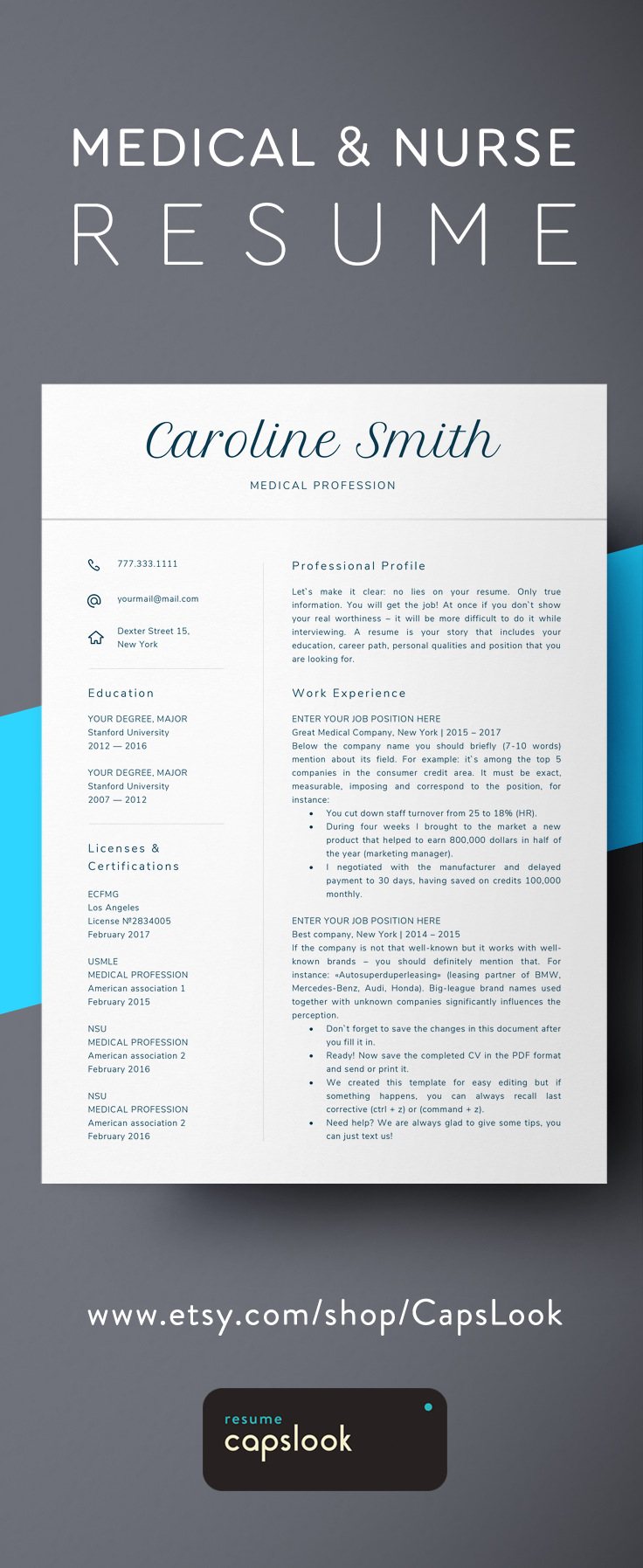 Create a winning Healthcare resume in minutes with this