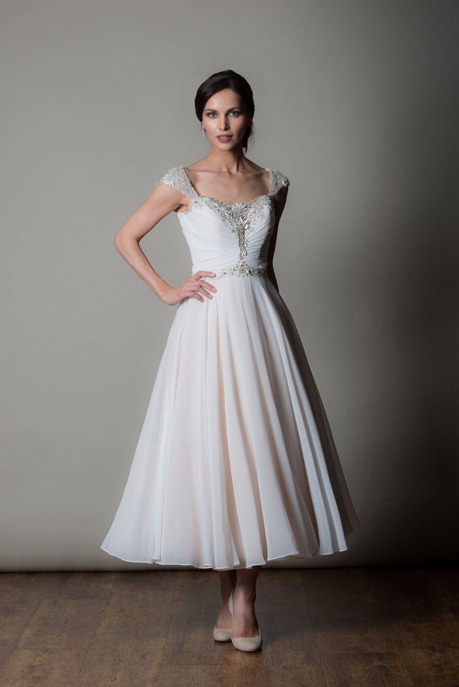 wedding dresses for older brides Knee length