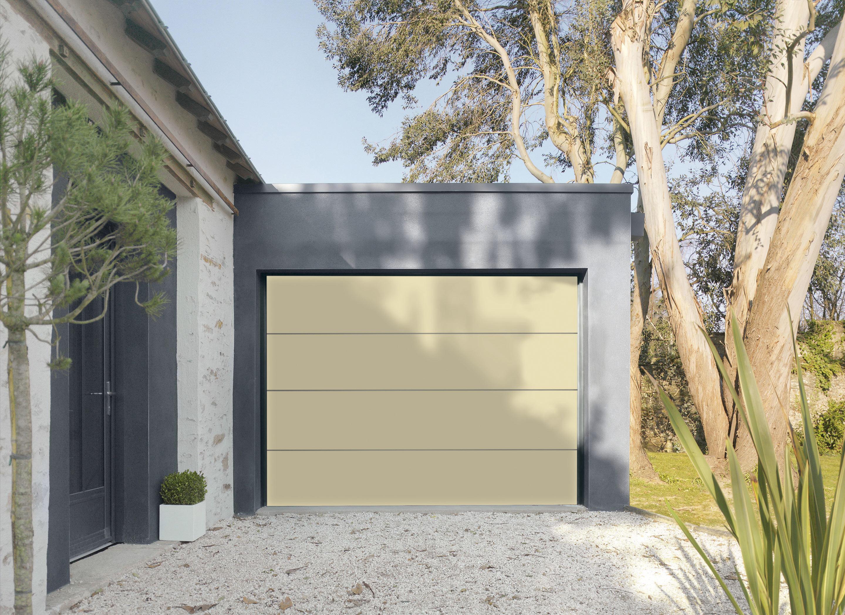 Porte De Garage Sectionnelle Motorisee Artens Premium 212 5x300