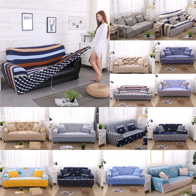 1 2 3 4 Seat Seater Sofa Slipcover Stretch Protector Soft Couch