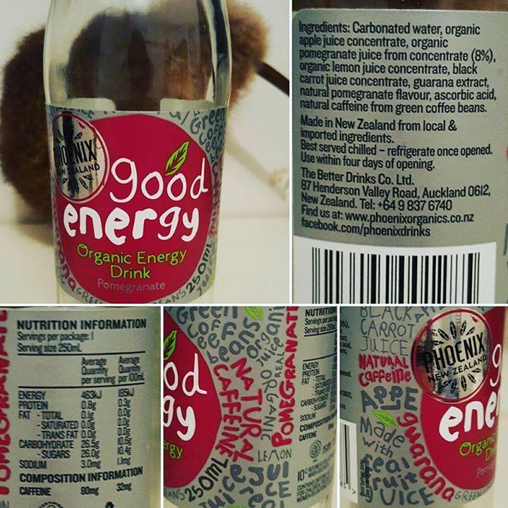Good Energy NEW ZEALAND energy drink (hence the kiwi in