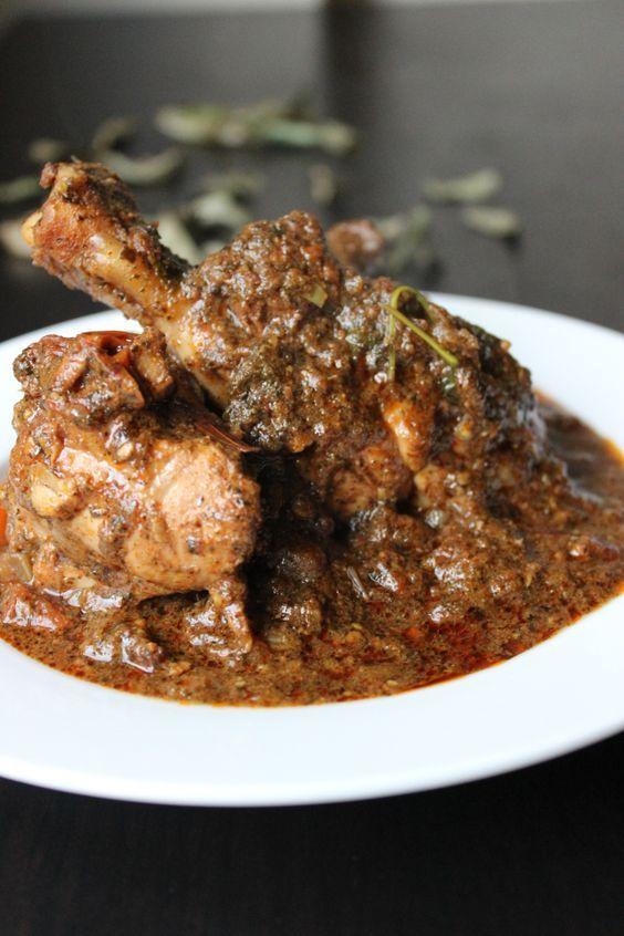 Karivepaku Kodi Kura / Curry Leaves Chicken Masala