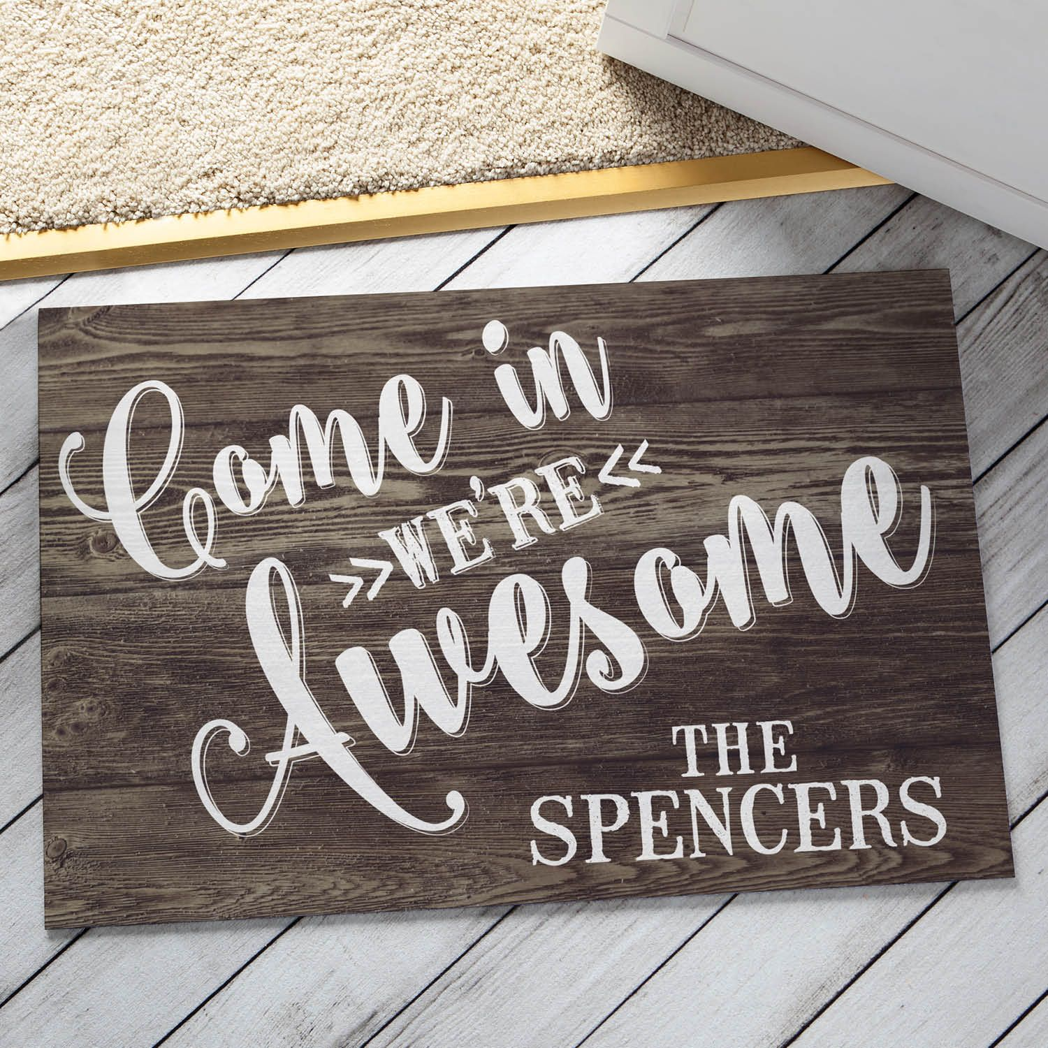 Come in were awesome personalized doormat doormats home come in were awesome personalized doormat doormats home personalized planet rubansaba