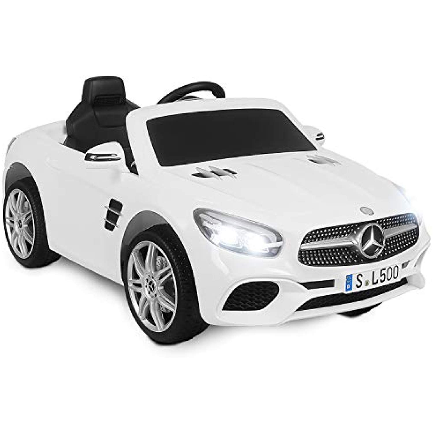 Uenjoy 12v Ride On Car One Seater Licensed Mercedes Benz Sl500 Amg Roadster Electric Cars For Kids Kiddie Ride Fun Tricyc Electric Cars Mercedes Benz Tricycle