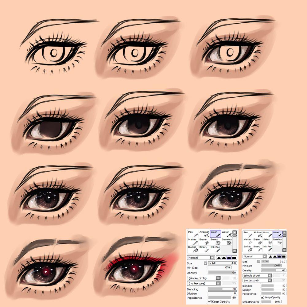Eyes tutorial by on deviantart