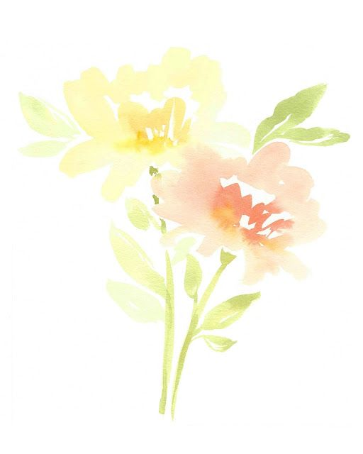 Free Printable Watercolor Peonies With Images Free