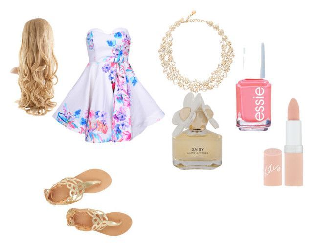Formal Summer Dinner Outfit #summerdinneroutfits Formal Summer Dinner Outfit by hanifauddin on Polyvore featuring Marc by Marc Jacobs, Rimmel, Essie, Kate Spade and Ancient Greek Sandals #summerdinneroutfits