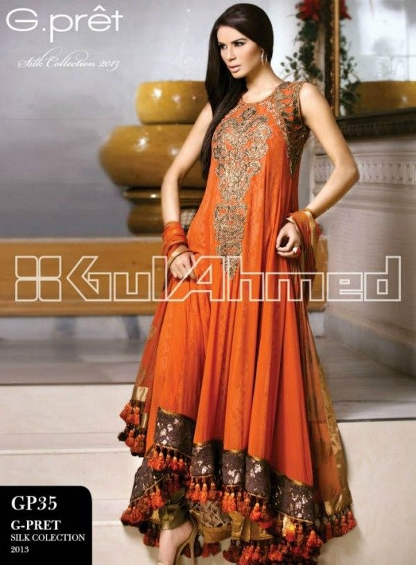 Pakistani Party Wear Dresses 2013