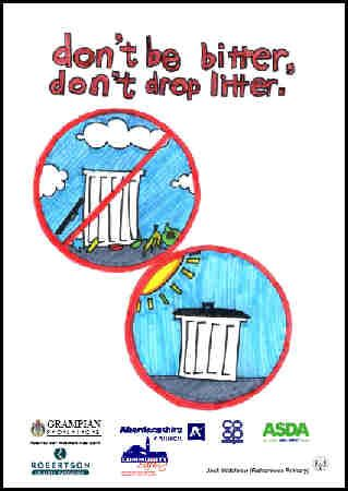 Don T Be Bitter Don T Drop Litter Children Sketch English Posters Dog Mess