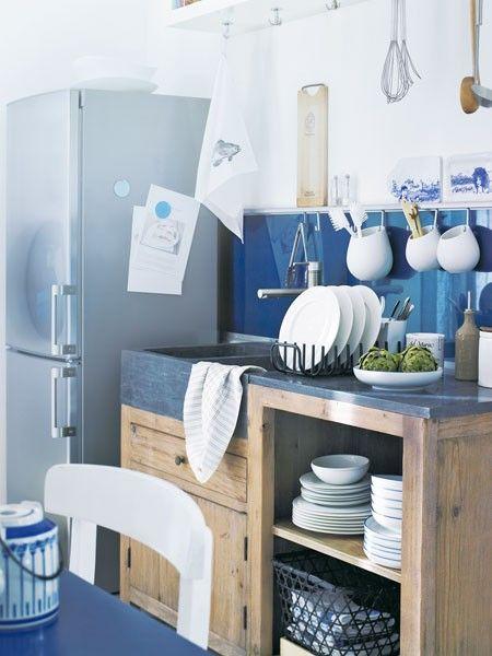 Maritim feeling modern interpretiert kitchen pinterest - Gartenhaus maritim einrichten ...