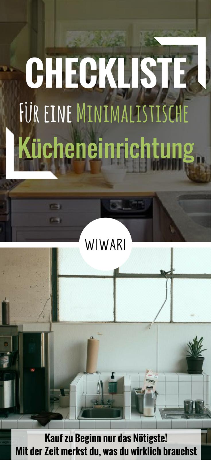 Gut Checkliste Für Eine Minimalistische Kücheneinrichtung | Minimal Leben |  Minimalismus Leben | Küche Einrichten | Küche