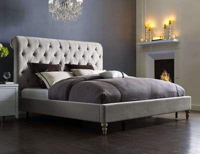 Putnam Velvet Queen Bed | Estrella y Camas