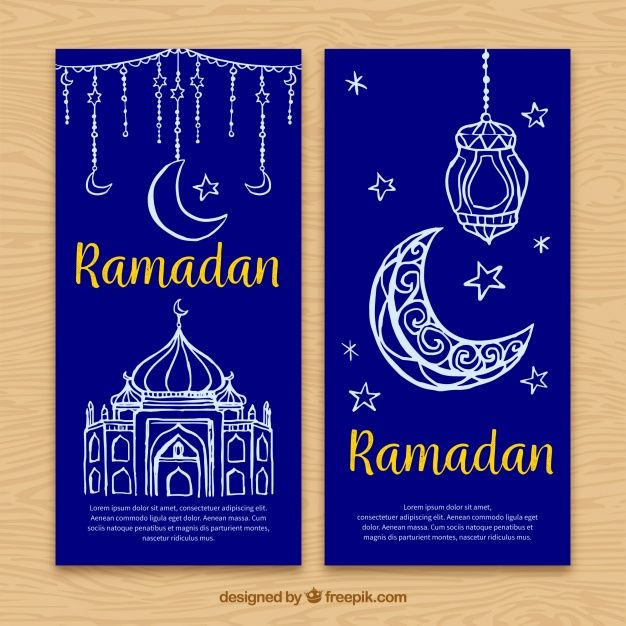 Ramadan Banner With Decorative Sketches Ramadan Ramadan Kareem Banner Vector