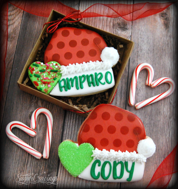 9d1f75d866f Santa hat Christmas single cookie