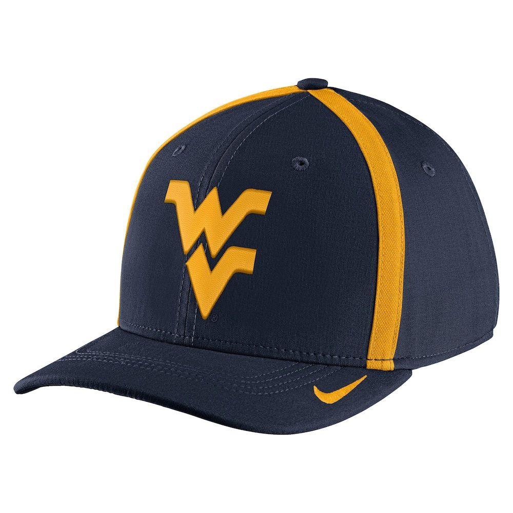 87a7053a01c Nike Men s West Virginia Mountaineers Blue Aerobill Swoosh Flex Football  Sideline Hat