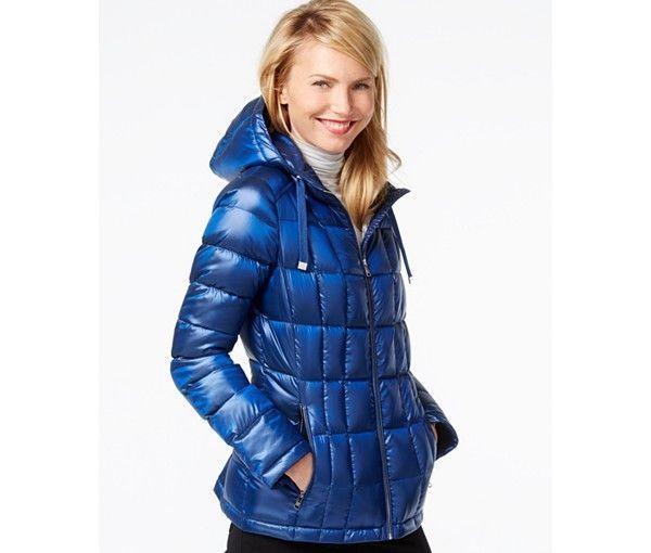 7a5d23b11 Details about NWT Calvin Klein Women's Hooded Packable Down Puffer ...
