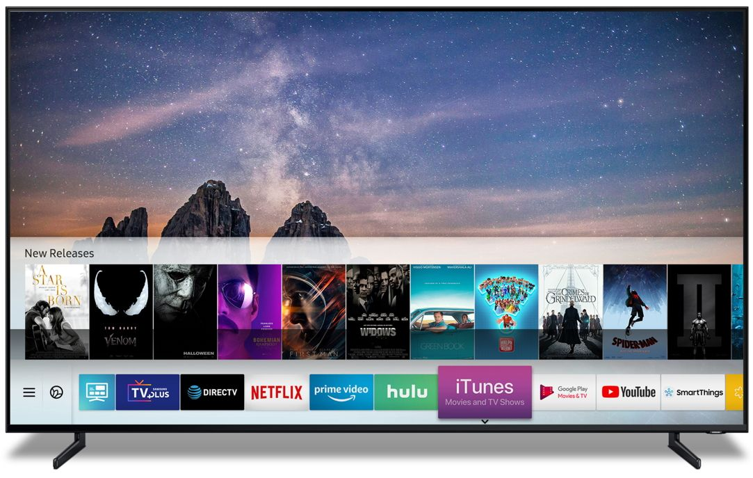Samsung Smart Tvs To Launch Itunes Movies Amp Tv Shows And Support Airplay 2 Beginning Spring 2019http Bit Ly 2fcektf Samsung Smart Tv Samsung Tvs Smart Tv