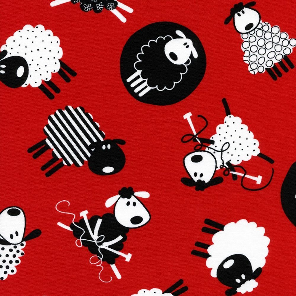 Fat quarter Patchwork Fabric Timeless Treasures C9182 Knitting Wool Sheep fq