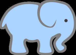 Light Blue Elephant clip art