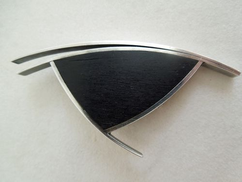 Betty Cooke Brooch of Ebony Wood and Sterling Silver, Betty was my Jewelry teacher at MICA