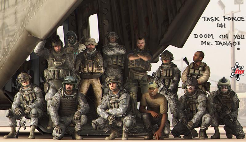 Robelmercenario Images Task Force 141 Group Pic By Felix Soap Mactavish Gamerdna Militer Film Animasi Gambar