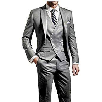 Suit Me Hommes Hommes 3 Pcs Slim Fit Veste de Costume de Smoking Fest de  Mariage 8766f66b9fd