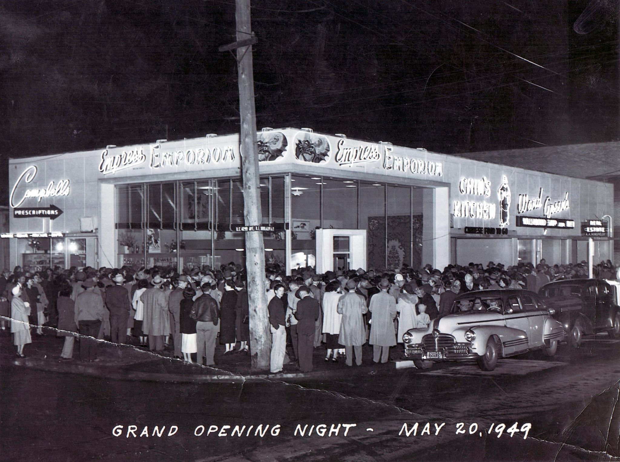 Grand Opening Empress Emporium And Chin S Kitchen May 20 1949