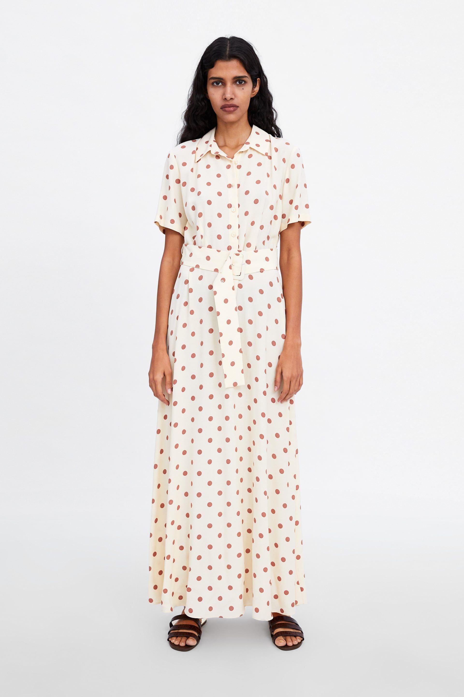eaea3dcd6cc Image 1 of LONG POLKA DOT DRESS from Zara