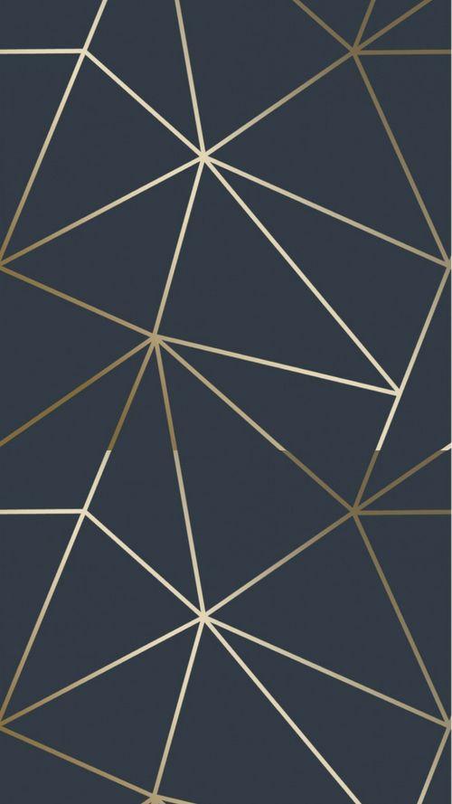 Zara Shimmer Metallic Wallpaper Navy, Gold