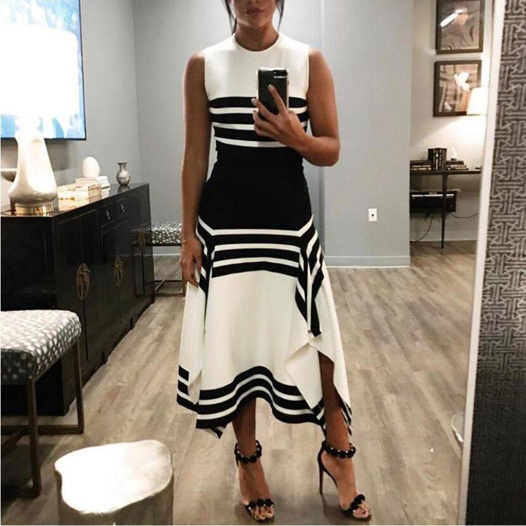 Ilh Ilh Women Stripe Sleeveless Casual Dress Women Round Neck Vestido Midi Party Dresses Walmart Com Casual Dresses For Women Striped Sleeveless Dress Summer Dresses For Women [ 1024 x 1024 Pixel ]