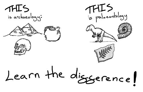 Always remember: Archaeology =/= Palaeontology