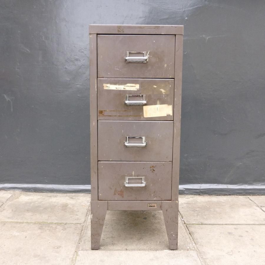 FOR SALE : VINTAGE INDUSTRIAL METAL FILING CABINET